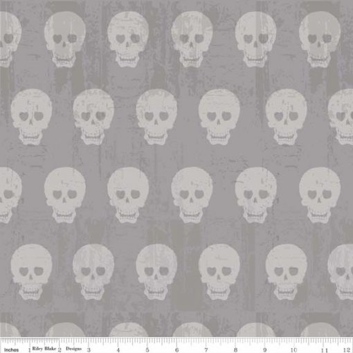 (Amy Adams) Geekly Chic 2, Geekly Skulls in Gray Amy Adams C511-02-GRAY 1
