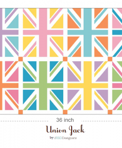 DC570-ORANGE Union Jack Squares Orange Panel 3