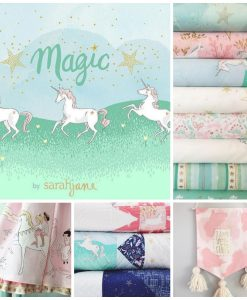 (Sarah Jane) Magic!, Unicorn Forest in Aqua Metallic Sarah Jane MD7191-AQUA-D 3