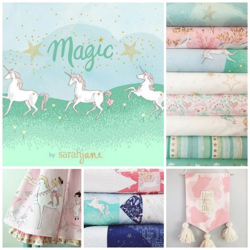 (Sarah Jane) Magic!, Unicorn Forest in Aqua Metallic Sarah Jane MD7191-AQUA-D 2