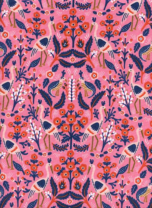 (Rifle Paper Co) Les Fleurs, Tapestry in Rose Rifle Paper Co. 8001-02 1
