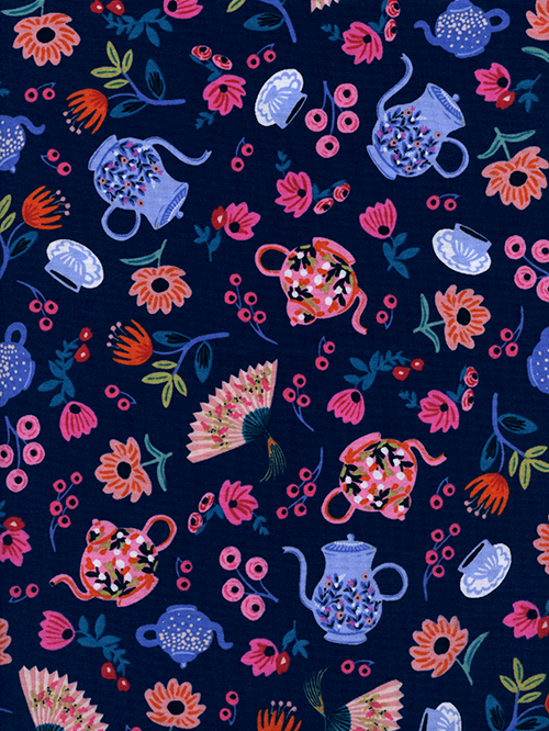 (Rifle Paper Co) Wonderland, Garden Party in Navy Rifle Paper Co. 8019-01 1