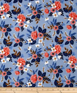 (Rifle Paper Co) Les Fleurs, Birch in Periwinkle Rifle Paper Co. 8003-01 3
