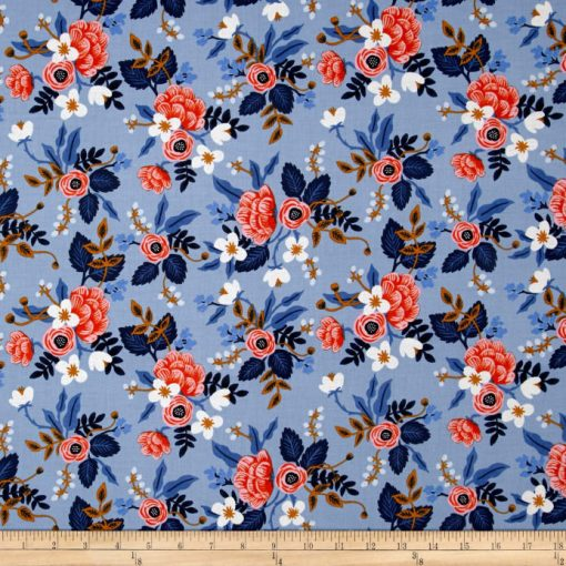 (Rifle Paper Co) Les Fleurs, Birch in Periwinkle Rifle Paper Co. 8003-01 2