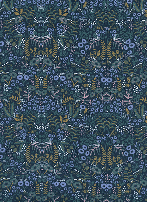 (Rifle Paper Co) Menagerie, Tapestry in Navy Rifle Paper Co. 8031-01 1