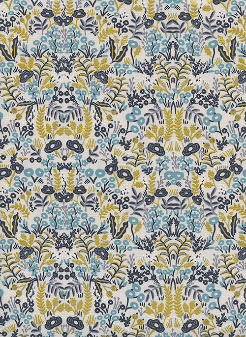 (Rifle Paper Co) Menagerie, Tapestry in Natural Metallic 1
