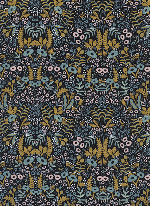 (Rifle Paper Co) Menagerie, Tapestry in Midnight Metallic Rifle Paper Co. 8031-04 1