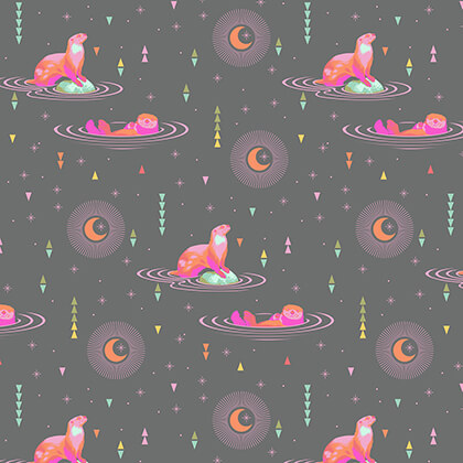 (Tula Pink) Spirit Animal, Otter and Chill in Starlet Tula Pink PWTP102.STARL 1