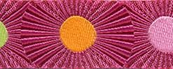 """(Tula Pink Ribbons) Slow and Steady, Pink Stripes And Dots 7/8"""" 3"""