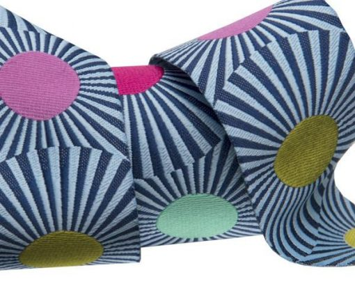 """(Tula Pink Ribbons) Slow and Steady, Wide Navy Blue Stripes And Dots 1 1/2"""" 1"""