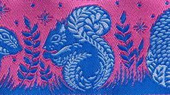 """(Tula Pink Ribbons) Slow and Steady, Animal Grandstand Pink And Blue 1 1/2"""" 3"""