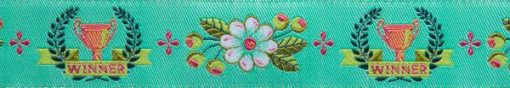 """(Tula Pink Ribbons) Slow and Steady, The Winner In Mint 7/8"""" 2"""