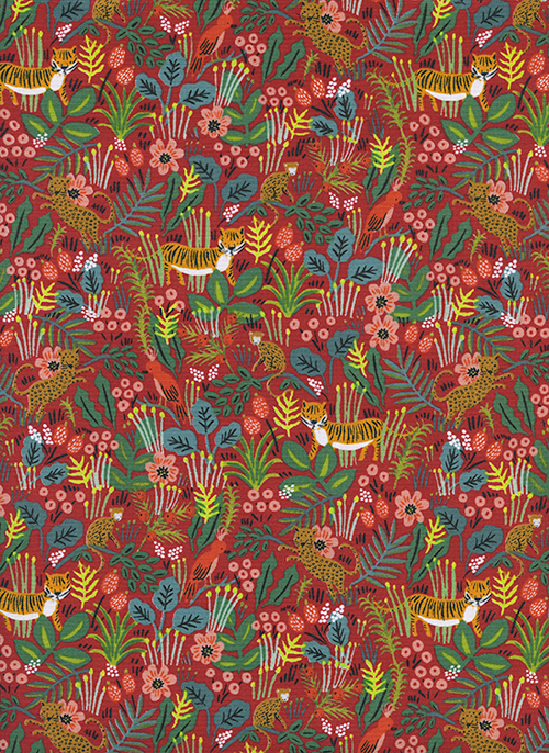(Rifle Paper Co) Menagerie, Jungle in Red Rifle Paper Co. 8029-03 1