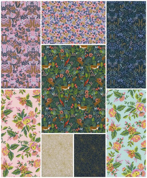 Menagerie Fat Quarter Bundle in Beauty Rifle Paper Co. FQB-MNG-2 1