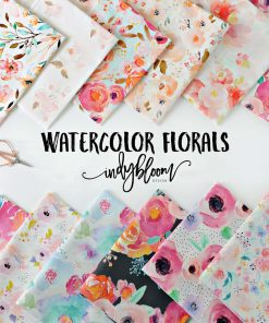 (Indy Bloom) Watercolor Florals, Punchy Floral in Fuchsia Indy Bloom 59127 3