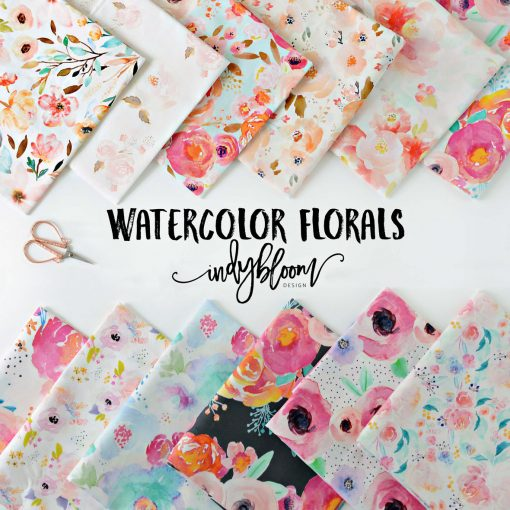 (Indy Bloom) Watercolor Florals, Large Roselynn Floral in Magenta on White 2