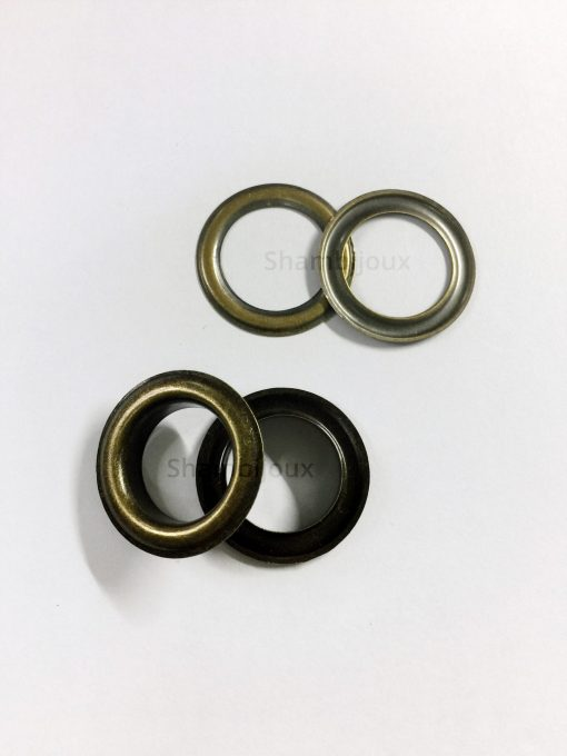 "Eyelets 20mm (3/4"") in Bronze - 10 sets 1"