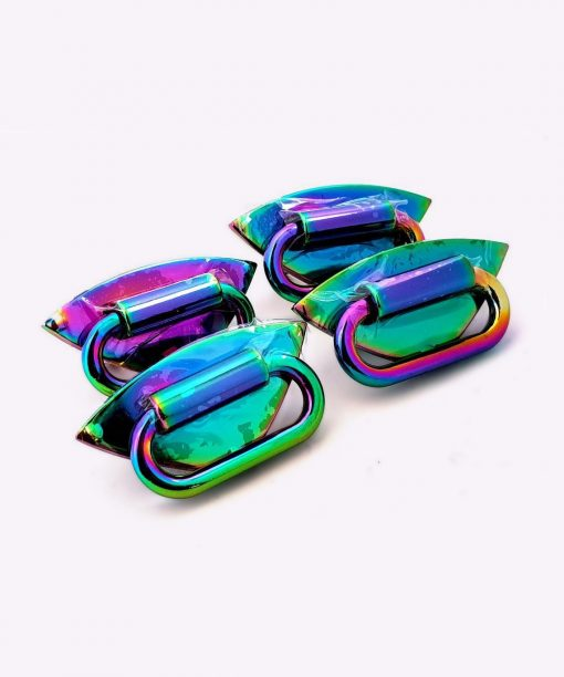 Strap Anchor, Diamond in Iridescent Rainbow Finish - Pack of 4 Shambijoux ANC32-RBW-DM(4) 1