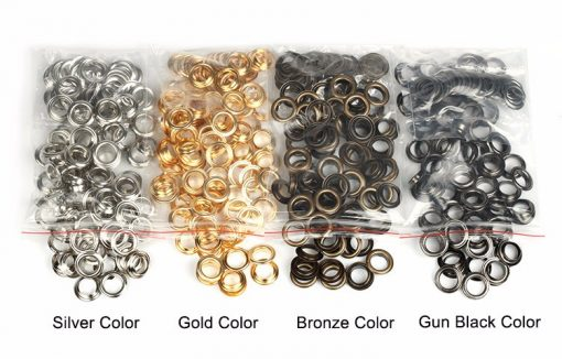 "Eyelets 20mm (3/4"") in Gun Metal Black - 10 sets 2"