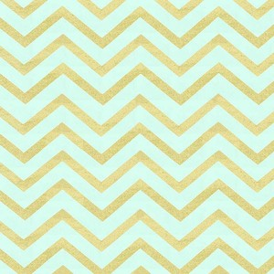 (Michael Miller) Glitz, Sleek Chevron Pearlized in Mist 1