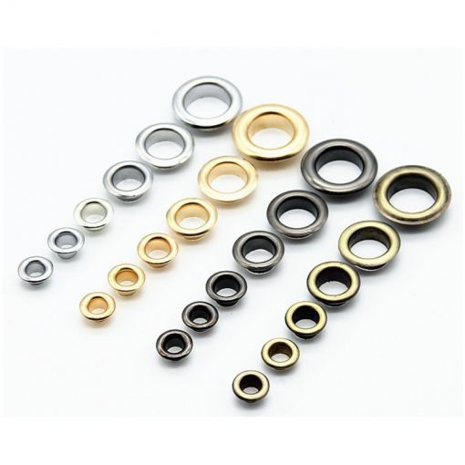"Eyelets 20mm (3/4"") in Gun Metal Black - 10 sets 1"