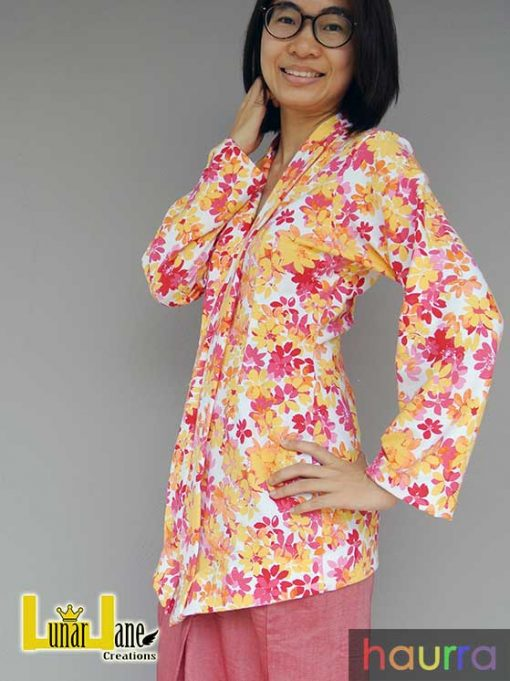 Kebaya Kelepet Dewasa With Nursing Option - PDF Pattern (by Haurra Sewing) 1