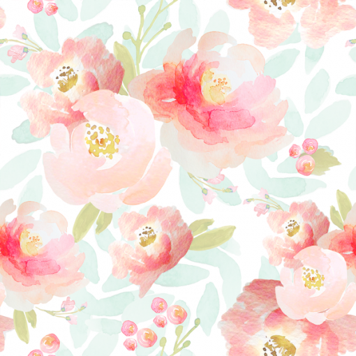 (Indy Bloom) Watercolor Florals, Plush Floral in Sweet Pea Indy Bloom 59126 1