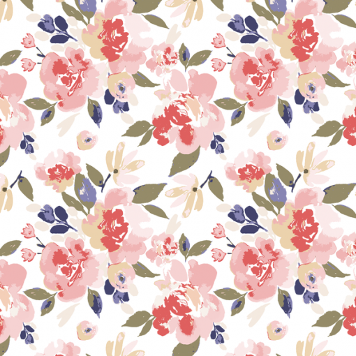 (Indy Bloom) Watercolor Florals, Peony Floral in Romance 1