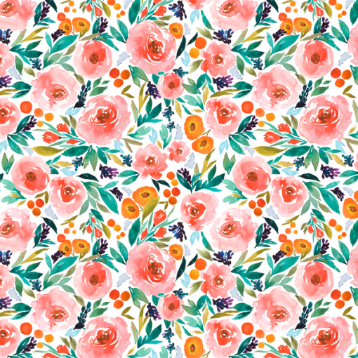 (Indy Bloom) Watercolor Florals, Berry Blossom in Pink Indy Bloom 72322 1