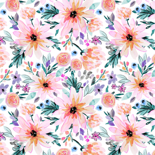 (Indy Bloom) Watercolor Florals, Blaire Floral in Paradise 1