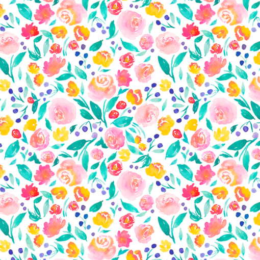 (Indy Bloom) Watercolor Florals, Jane Floral in Bright 1