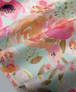 Little Blushing Floral in Melon on Mist
