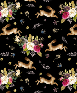 (Shopcabin) Autumn Bunnies, Large Autumn Bunnies in Black