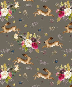 (Shopcabin) Autumn Bunnies, Large Autumn Bunnies in Dark Taupe