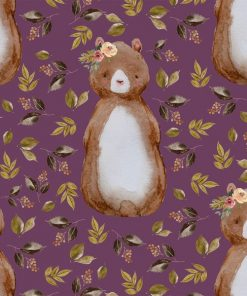 (Shopcabin) Autumn Woodland, Autumn Bear in Plum