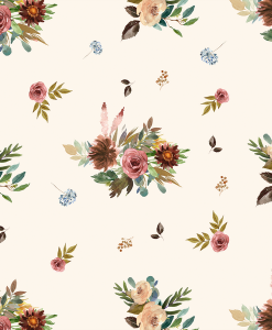 (Shopcabin) Autumn Woodland, Fall Floral in Soft Ivory