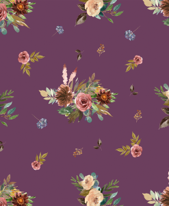 (Shopcabin) Autumn Woodland, Fall Floral in Plum