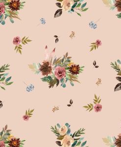 (Shopcabin) Autumn Woodland, Fall Floral in Shell
