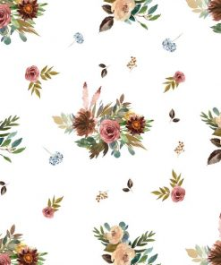 (Shopcabin) Autumn Woodland, Fall Floral in White