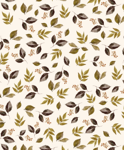 (Shopcabin) Autumn Woodland, Falling Leaves in Soft Ivory