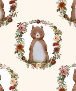 (Shopcabin) Autumn Woodland, Woodland Bear in Soft Ivory