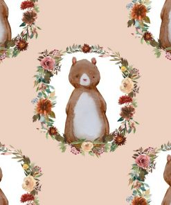 (Shopcabin) Autumn Woodland, Woodland Bear in Shell