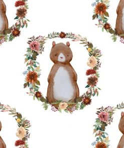 (Shopcabin) Autumn Woodland, Woodland Bear in White