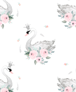 (Shopcabin) Blush Blooms, Blush Swans in Elegant