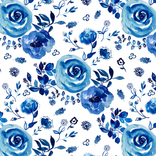 (Shopcabin) Chinoiserie, Chinoiserie Floral in Cobalt