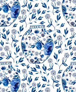 (Shopcabin) Chinoiserie, Chinoiserie in Cobalt
