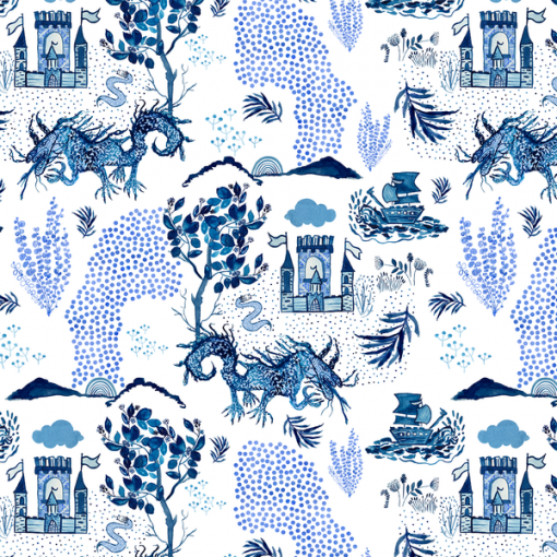 (Shopcabin) Chinoiserie, Fabled in Cobalt