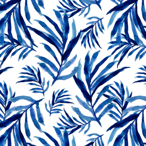 (Shopcabin) Chinoiserie, Nipa Palm in Cobalt