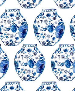 (Shopcabin) Chinoiserie, Porcelain in Cobalt