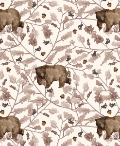 (Shopcabin) Floral Trail Bear, Walk Through the Woods in Soft Ivory
